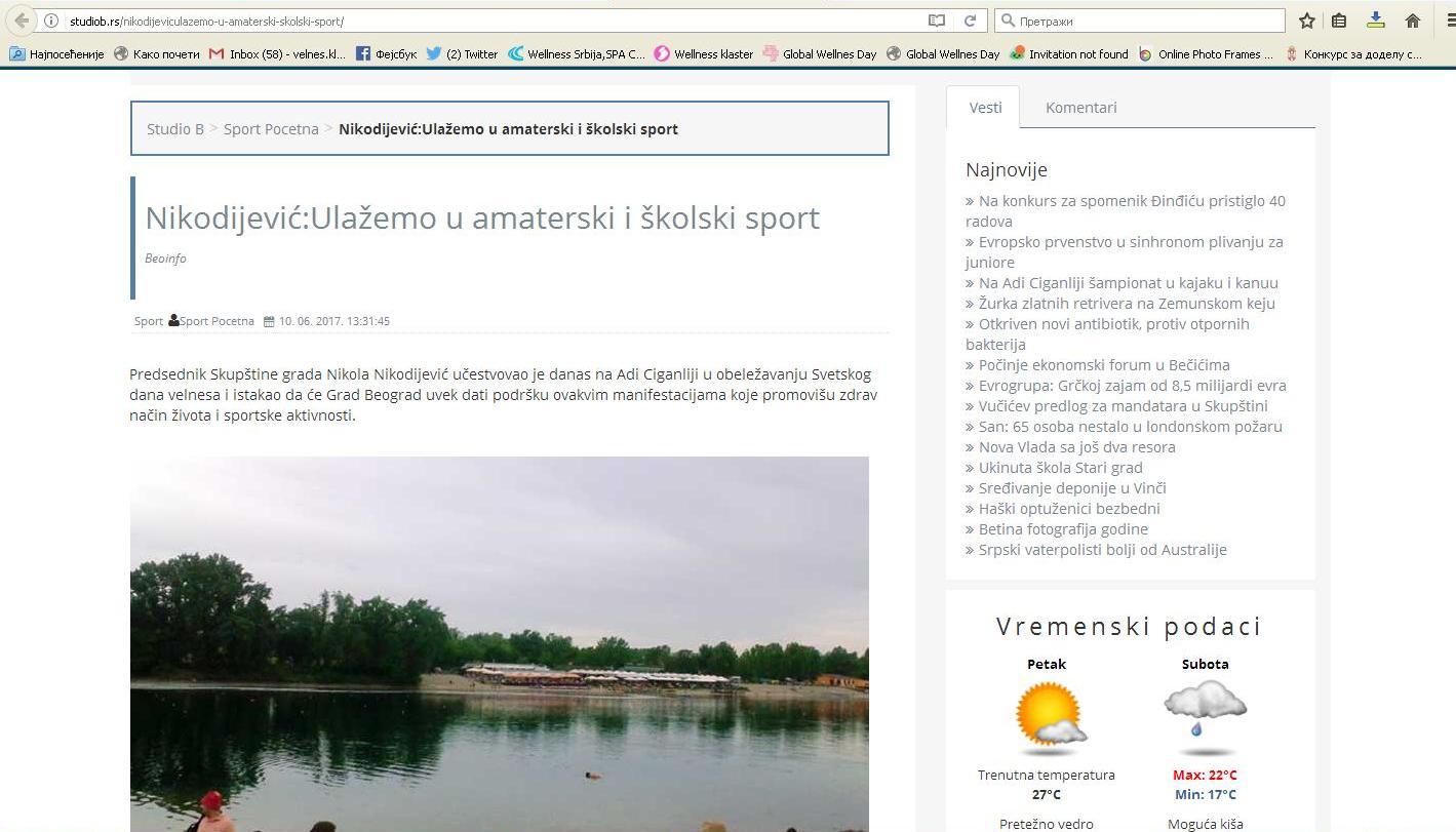 Nikodijević: ulažemo u amaterski i školski sport