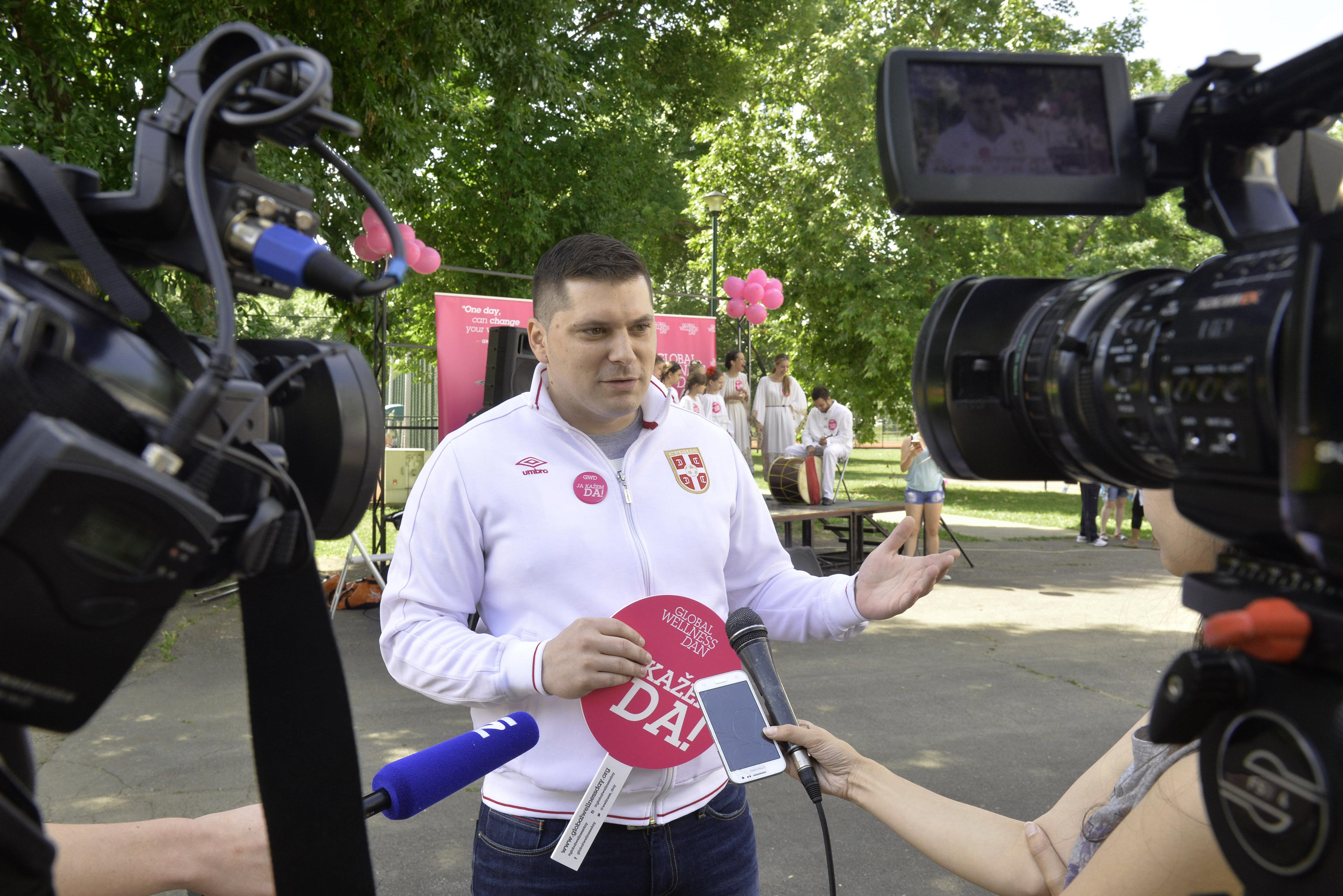 Nikola Nikodijević otvara Svetski dan velnesa na Adi Ciganliji
