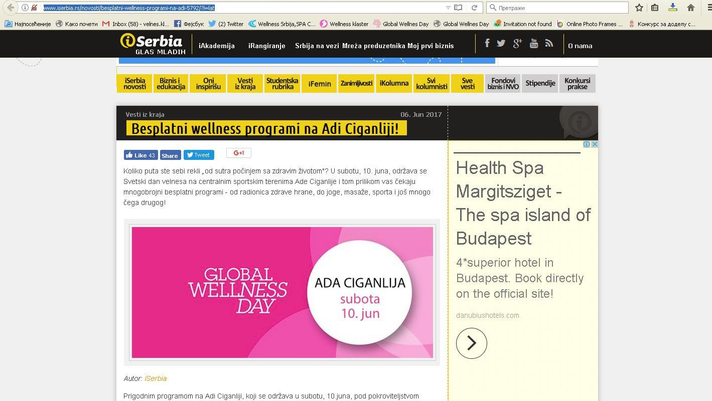 Besplatni wellness programi na Adi Ciganliji