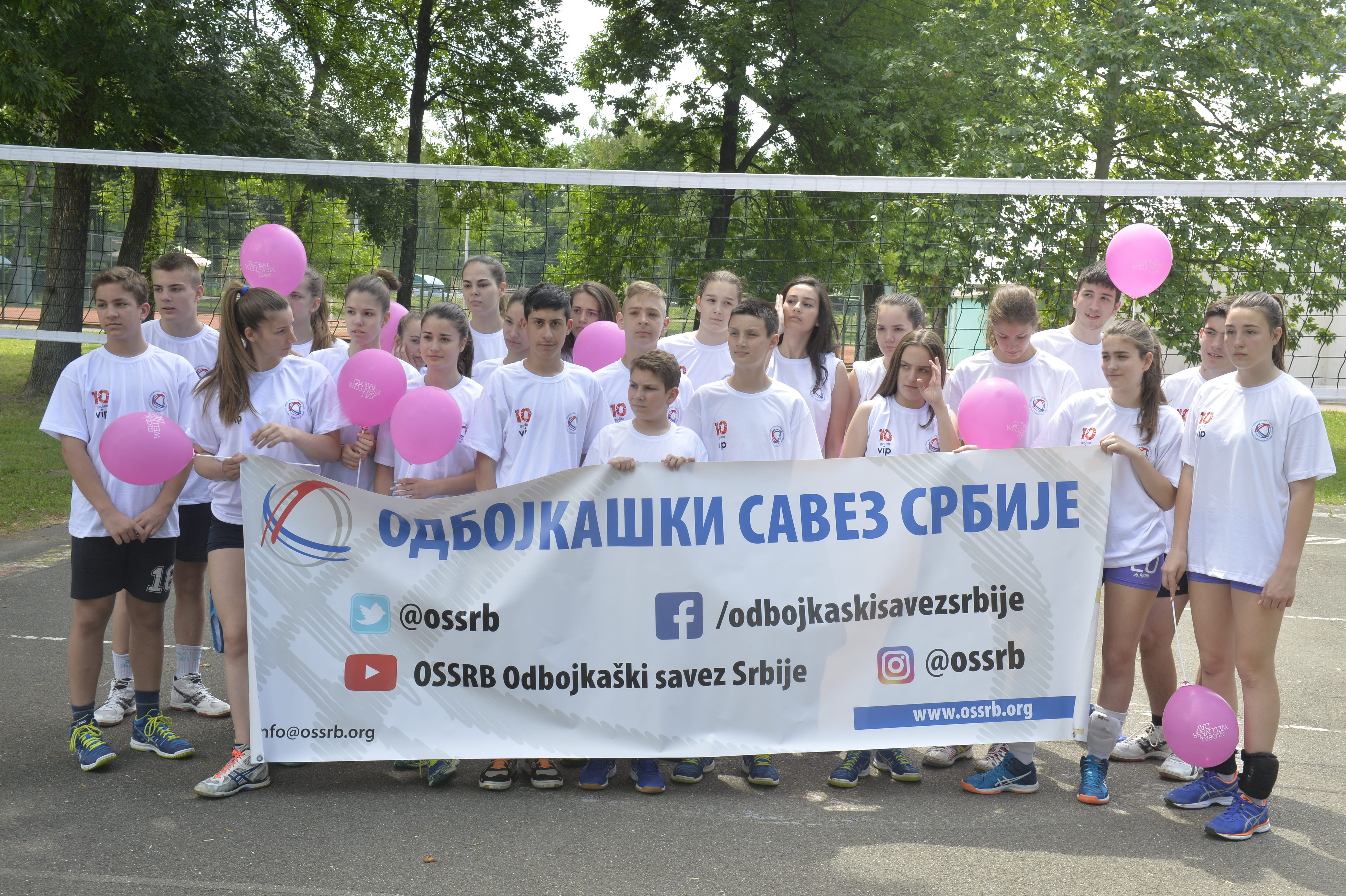 Odbojkaški savez Srbije na Svetskom danu velnesa na Adi Ciganliji